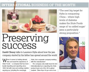 Stute Foods wins International Business of the Month